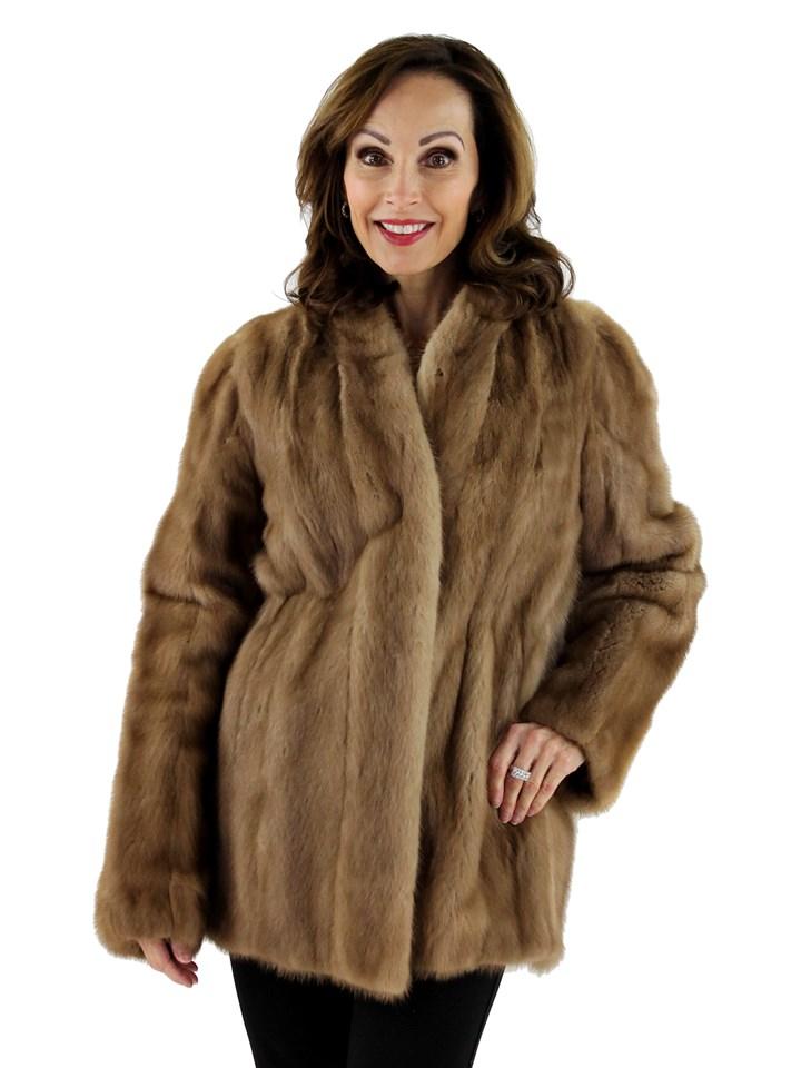 Woman's Autumn Haze Female Mink Fur Jacket