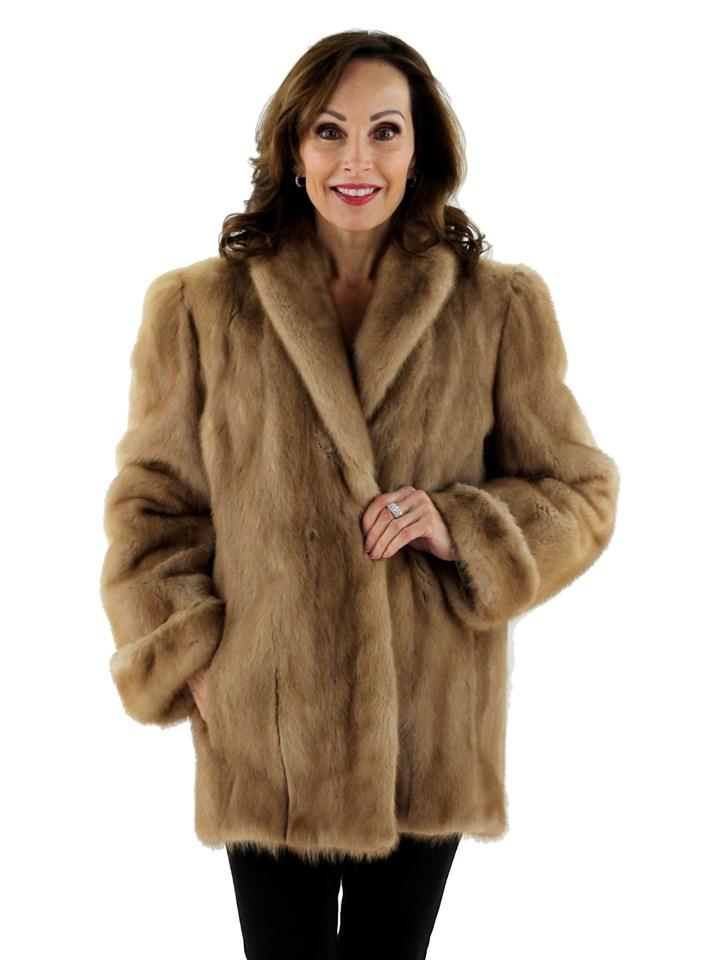 Woman's Pastel Mink Fur jacket