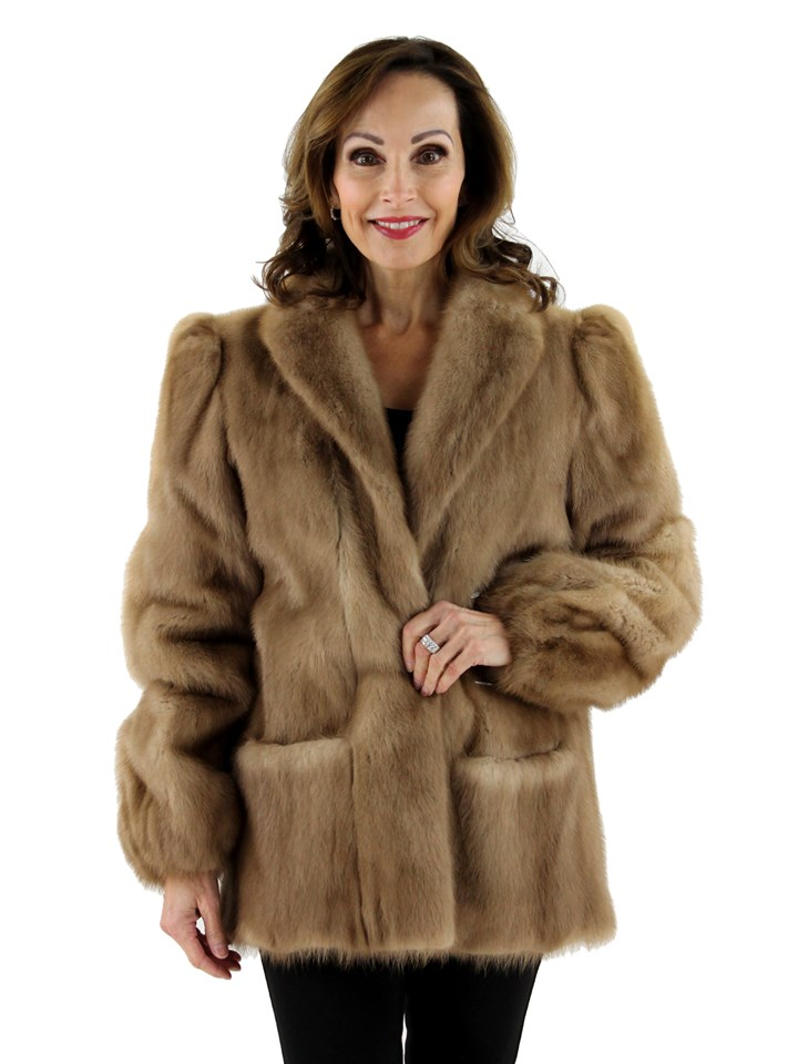 Women's Autumn Haze Mink Fur Jacket