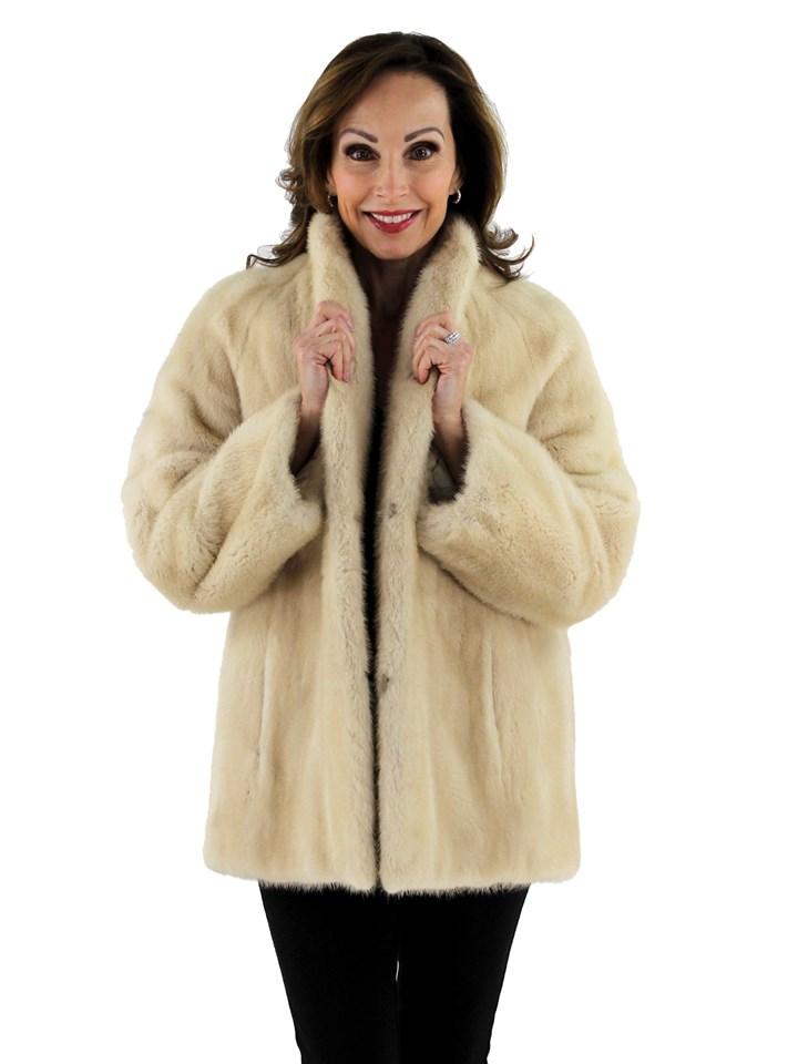 Woman's Tourmaline Mink Fur Jacket