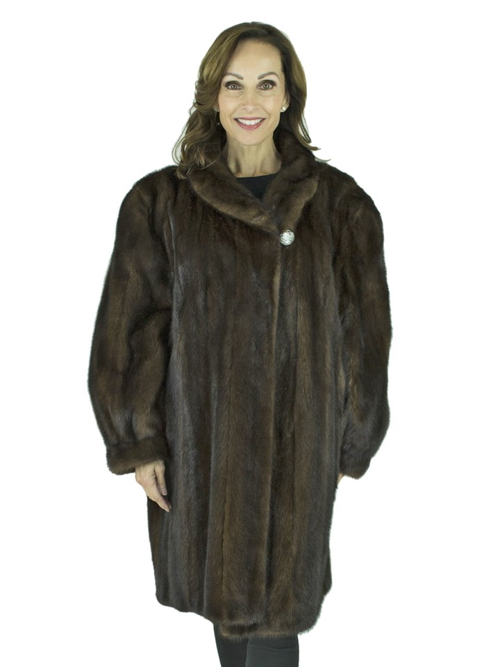 Woman's Mahogany Female Mink Fur Stroller