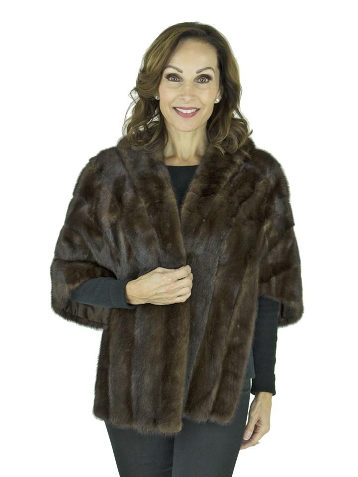 Woman's Vintage Mahogany Mink Fur Stole