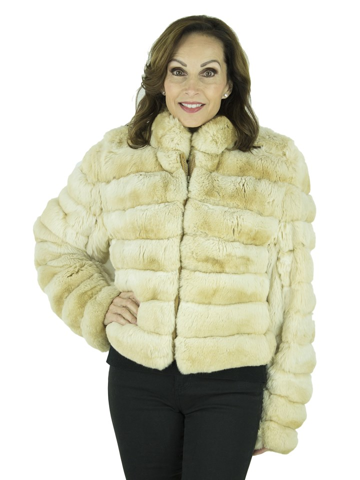 Woman's Dyed Chinchilla Fur Jacket