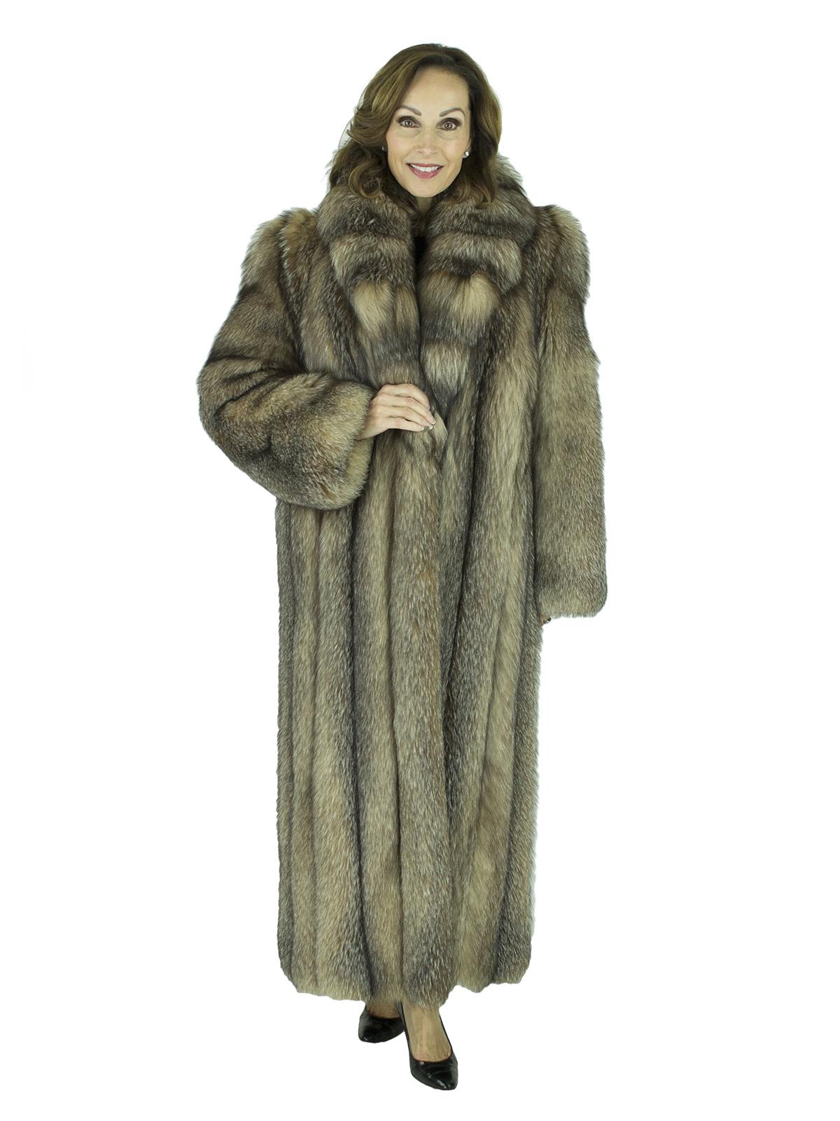 d2937590e Crystal Fox Fur Coat - Women's Fur Coat - Small| Estate Furs