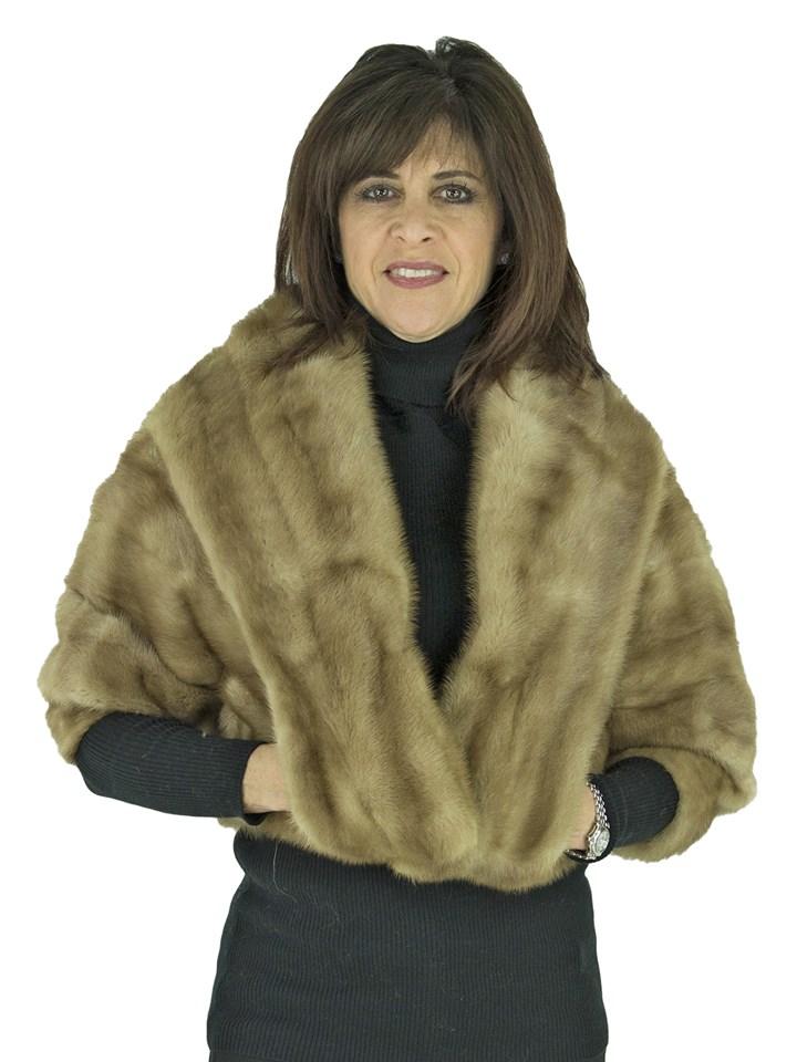 Woman's Pastel Mink Fur Bolero Jacket