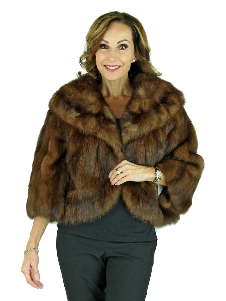 Woman's Russian Sable Bolero Fur Jacket