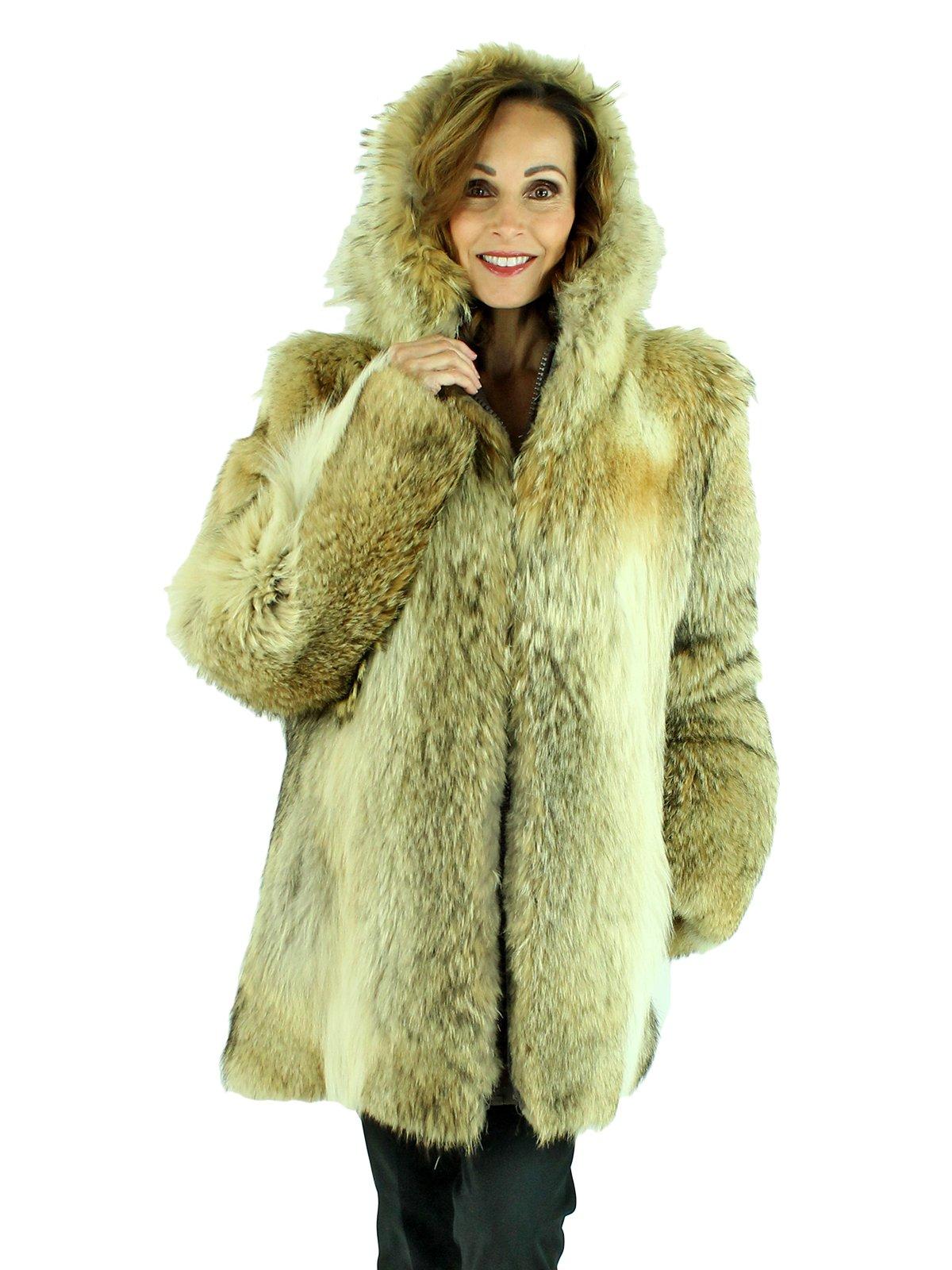 Coyote Fur Coat Womens Large Estate Furs >> Natural Coyote Fur Coat Women S Fur Coat Large Estate Furs