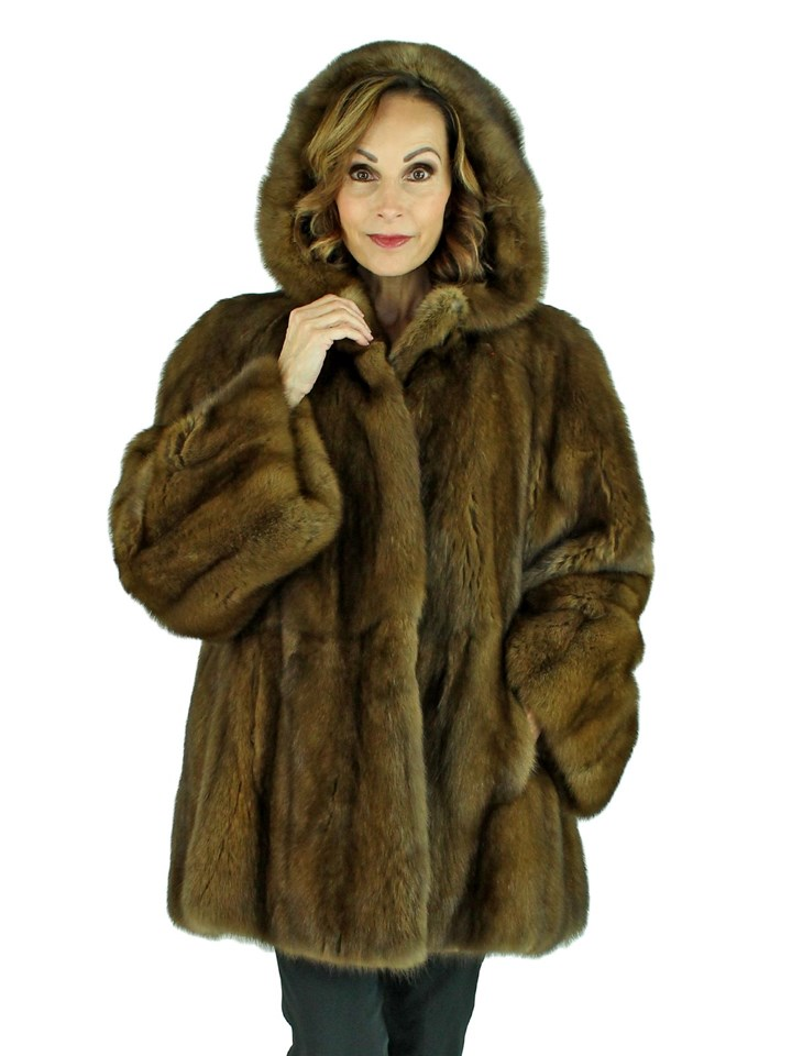 Woman's Sable Fur Parka