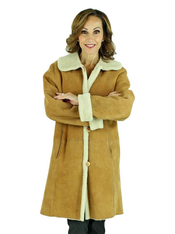 Woman's Whiskey Shearling Jacket
