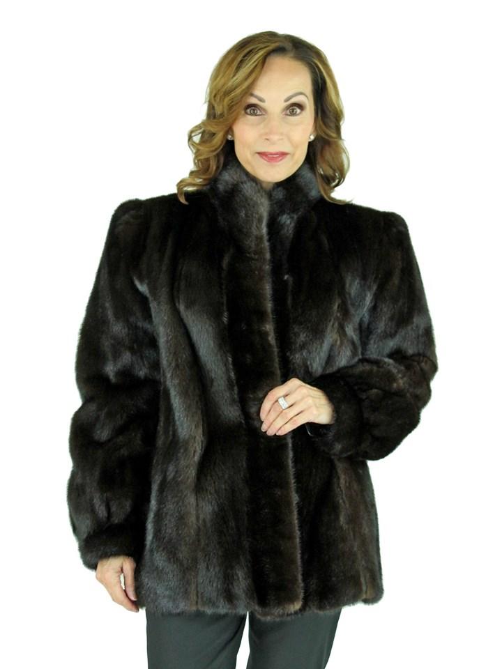 Woman's Dark Mahogany Mink Fur Jacket