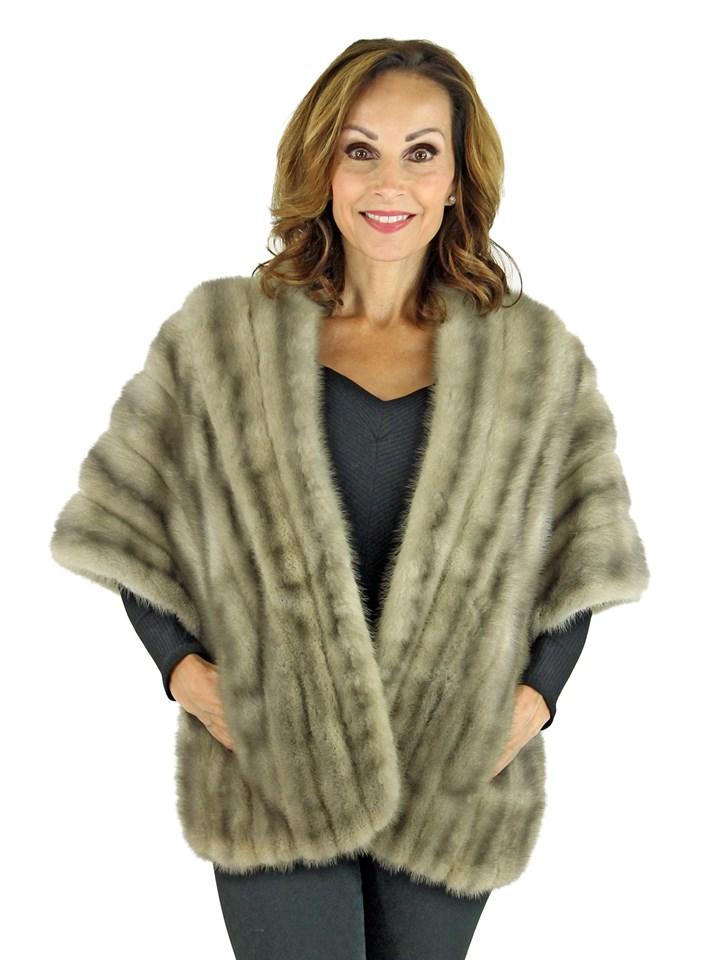 Woman's Cerulean Mink Fur Stole
