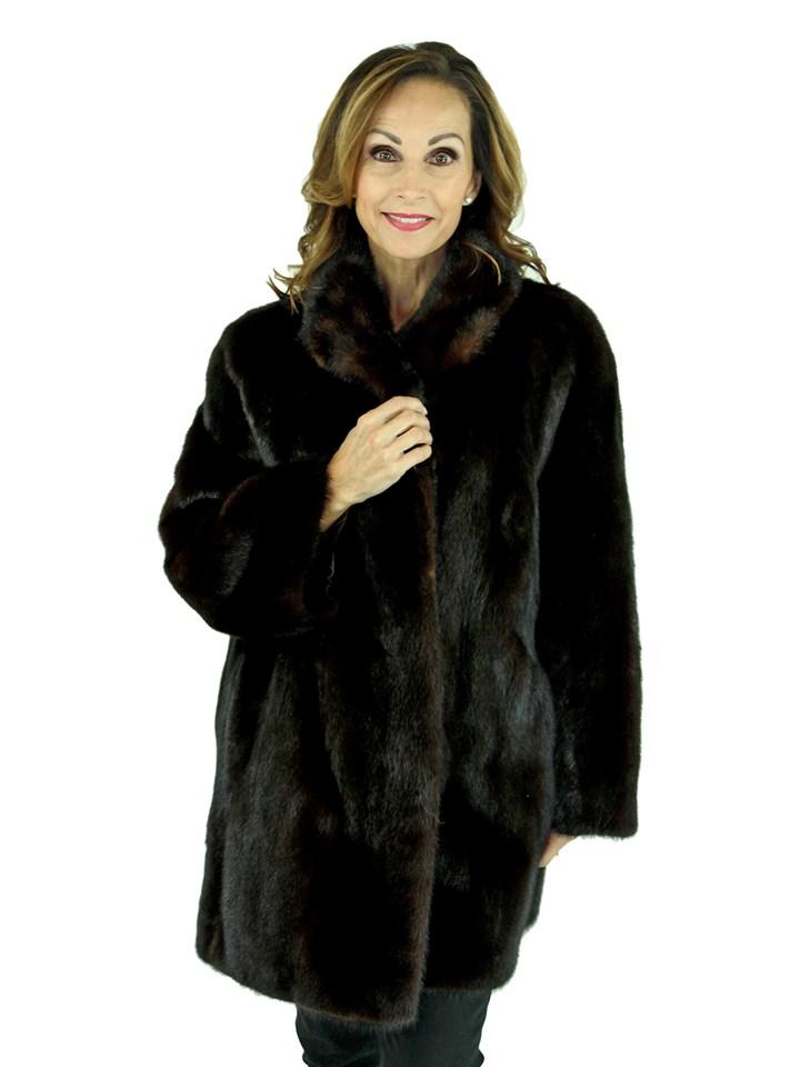 Woman's Dark Mahogany Mink Fur Stroller