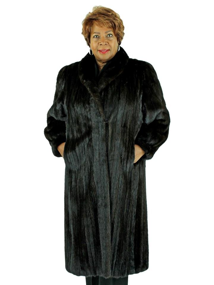 Woman's Dark Mahogany Female Mink Fur Coat