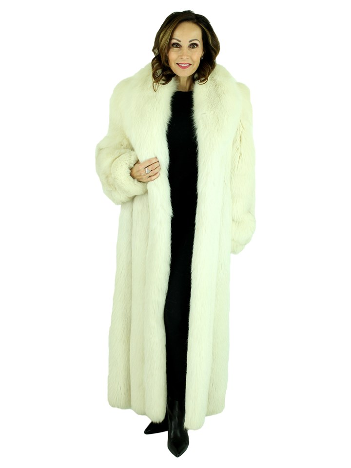 Woman's Blush Fox Fur Coat