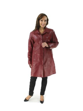 Woman's Scarlet Leather Stroller