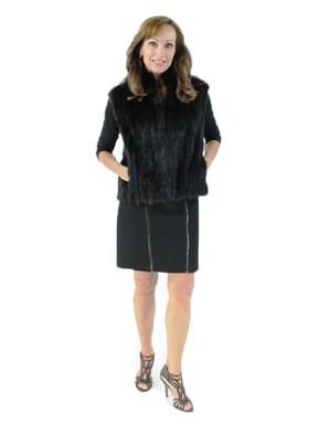 Ranch Mink Cord Cut Fur Vest