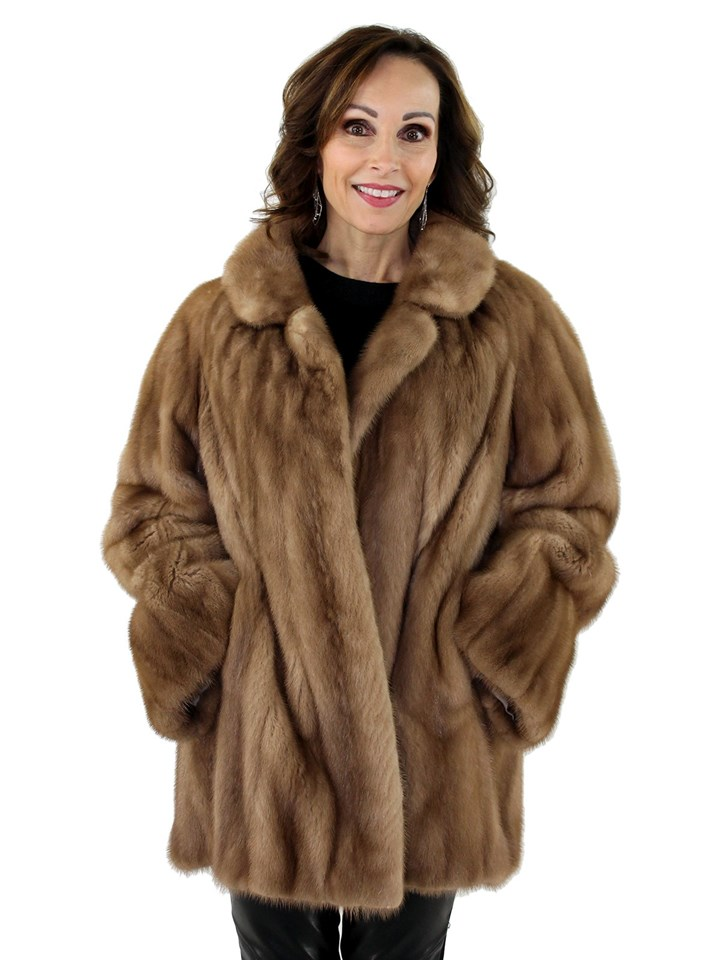 Woman's Autumn Haze Mink Fur Jacket