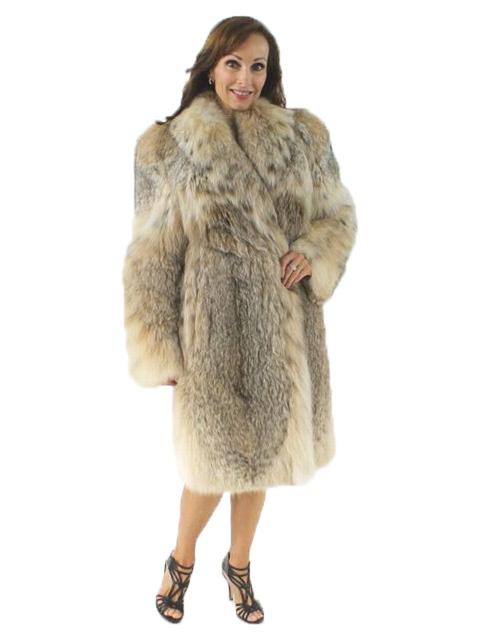 Mink Coat Value >> Cat Lynx Fur 7/8 Coat - Women's Small | Estate Furs