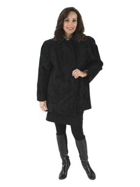 Woman's Givenchy Designer Black Swakara Lamb Jacket