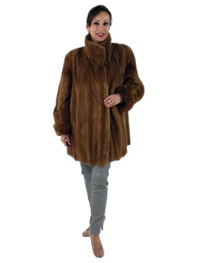 Day to Evening Gorgeous Whiskey Sheared Mink Jacket