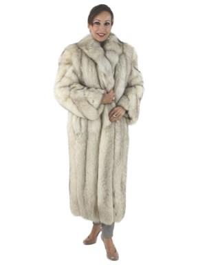 Lovely Natural Petite Blue Fox Coat