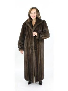 Woman's Mahogany Mink Fur Coat