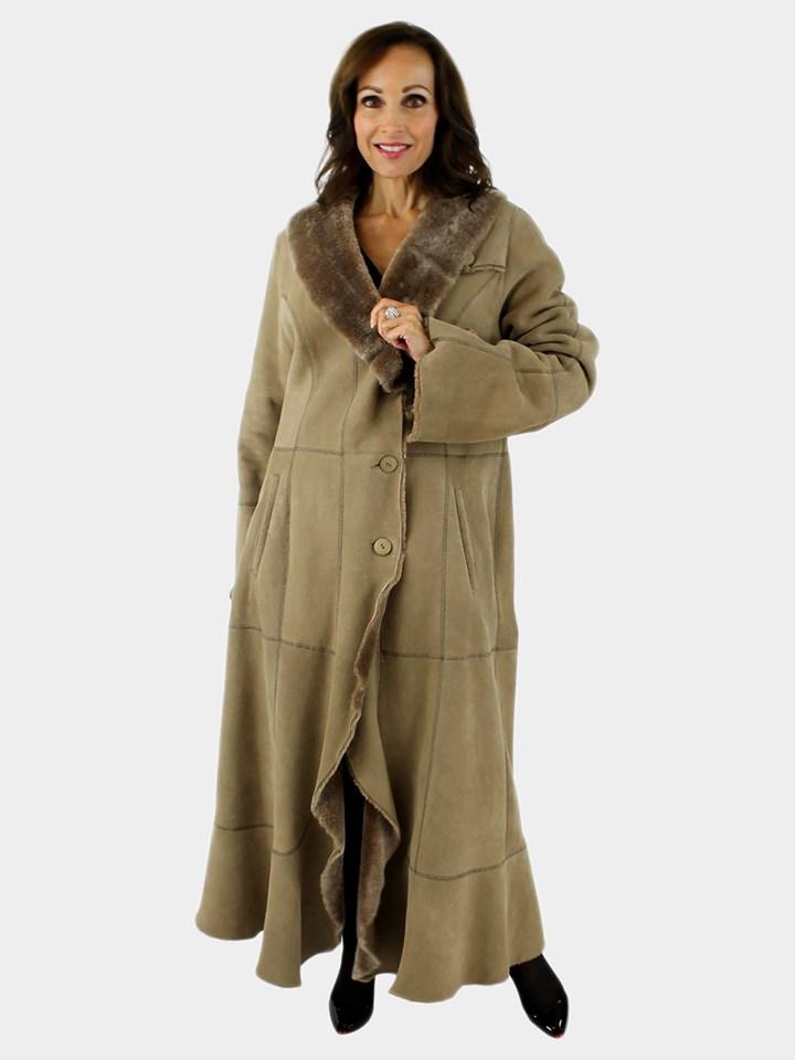 Camel Shearling Coat