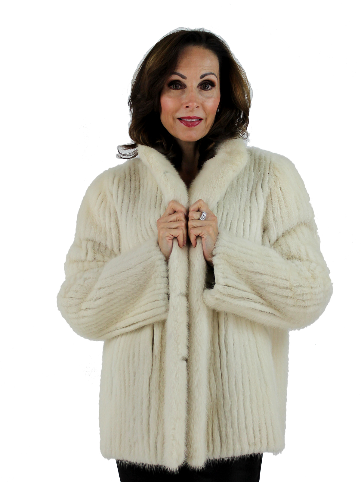 Tourmaline Cord Cut Fur Jacket Women S Large Estate Furs