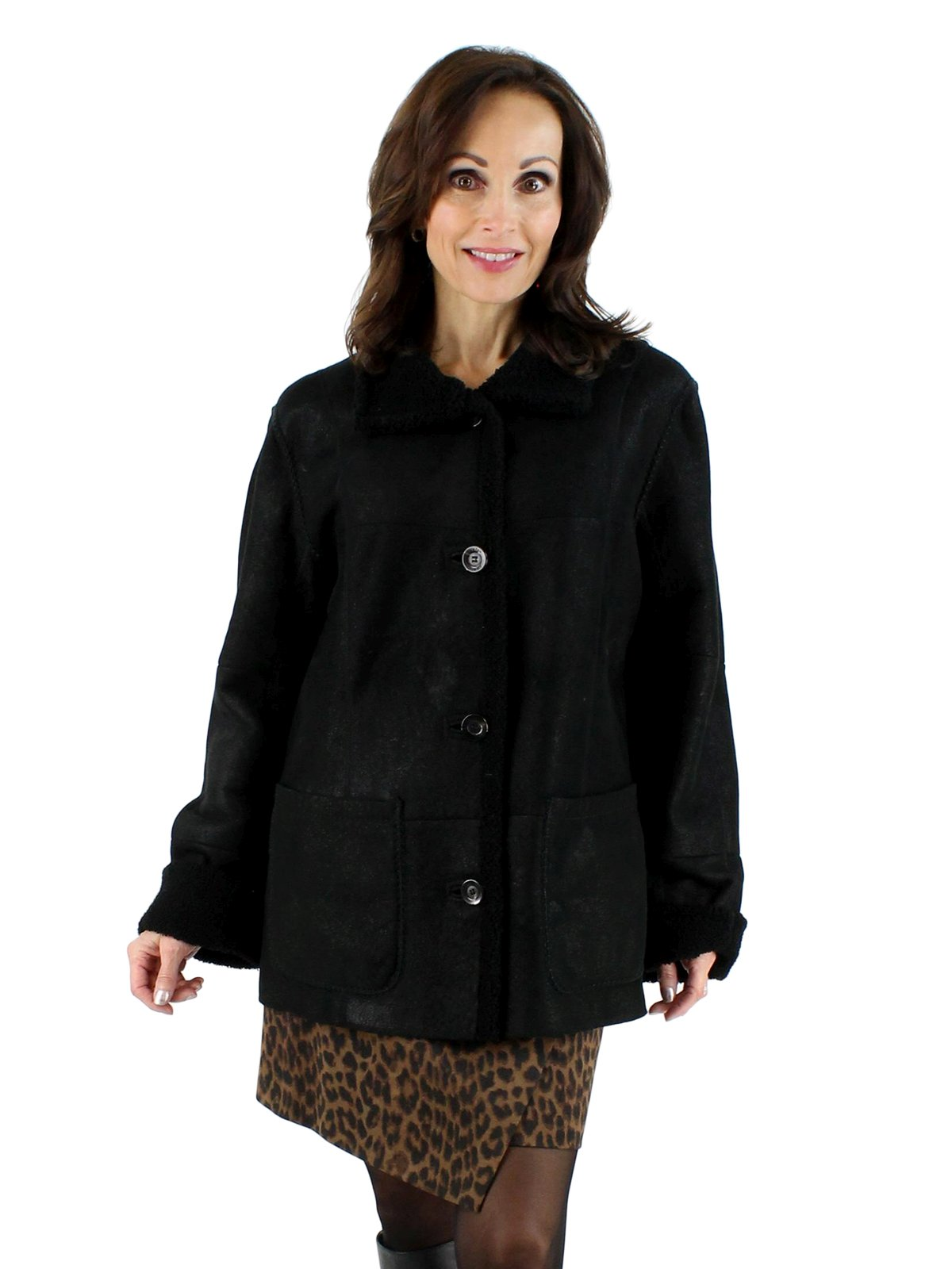 Reversible Shearling Lamb Fur Jacket Women S Medium