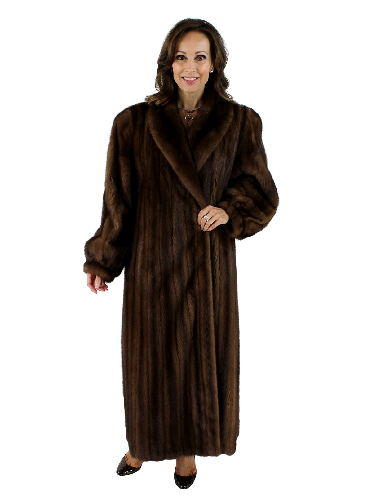demibuff female mink fur coat womens xlarge  estate furs